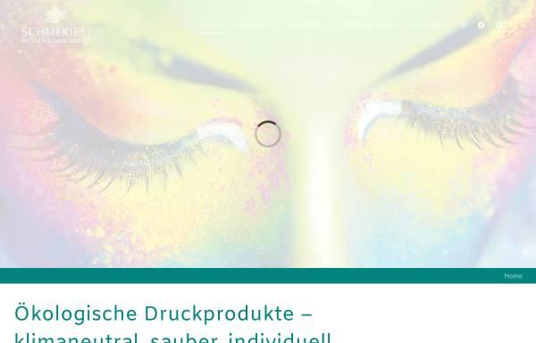 Vorschau von www.schmekies.de, Medien und Druck Schmekies