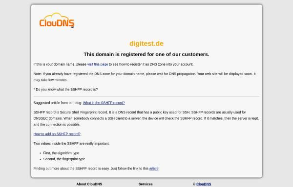 Vorschau von www.digitest.de, Digitest Elektronik Service GmbH
