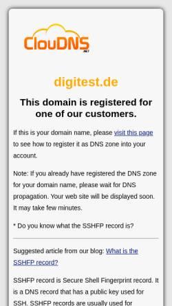 Vorschau der mobilen Webseite www.digitest.de, Digitest Elektronik Service GmbH
