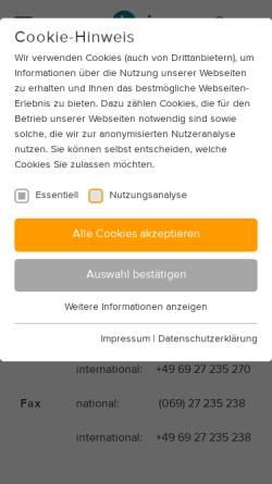 Vorschau der mobilen Webseite www.opel-linz.de, Autohaus Opel Weber