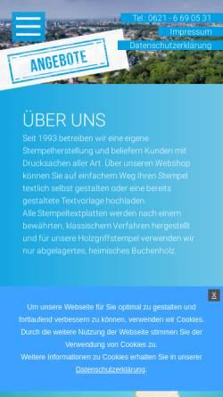 Vorschau der mobilen Webseite www.schnellestempel.de, Stempel + Druck