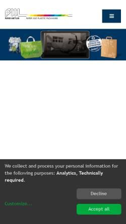 Vorschau der mobilen Webseite www.papier-mettler.de, Papier-Mettler e.K.