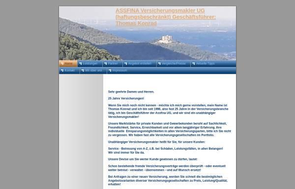 Vorschau von www.assfina.com, Assfina.com Thomas Konrad Versicherungsmehrfachagent