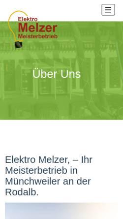 Vorschau der mobilen Webseite www.elektro-melzer.de, Elektro Melzer