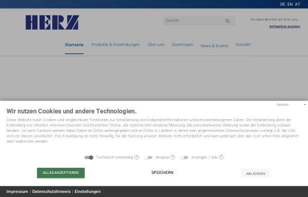 Vorschau von www.herz-gmbh.com, Herz-GmbH - Kunststoff- und Wärmetechnologie
