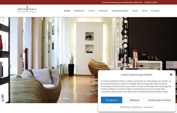 Vorschau von www.boehm-haare.de, Friseur Böhm.Haare!, Intercoiffure