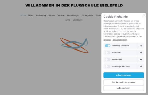 Vorschau von www.flugschule-bielefeld.de, Flugschule Bielefeld