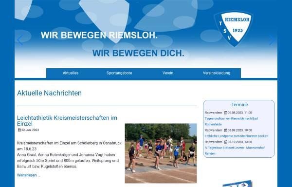 Vorschau von www.tsv-riemsloh.de, TSV Riemsloh 1925 e.V.