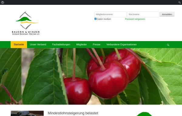 Vorschau von www.bwv-rlp.de, Bauern- und Winzerverband Rheinland-Pfalz Süd e.V.