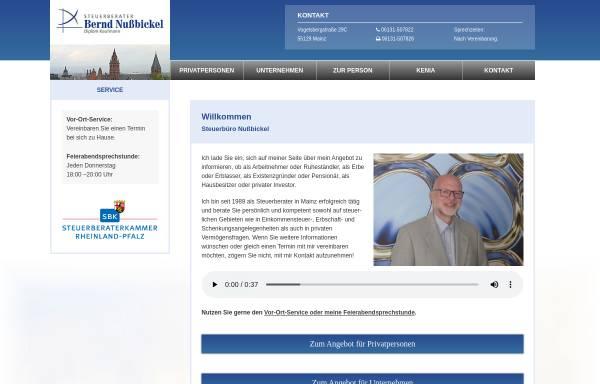 Vorschau von www.nussbickel.com, Steuerberatungskanzlei Bernd Nußbickel