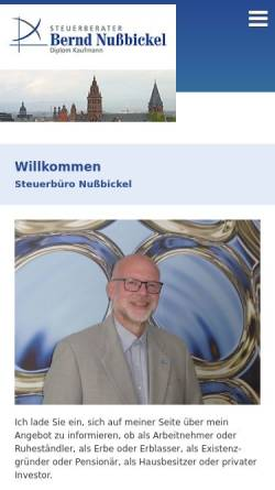 Vorschau der mobilen Webseite www.nussbickel.com, Steuerberatungskanzlei Bernd Nußbickel
