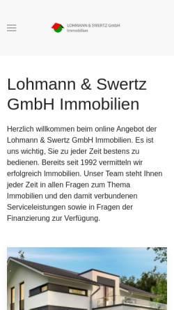 Vorschau der mobilen Webseite www.lohmann-immobilien.de, Lohmann Immobilien-Service GmbH