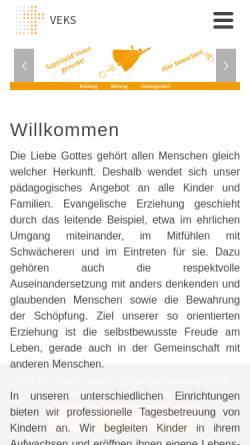 Vorschau der mobilen Webseite www.veks.de, VEKS GmbH