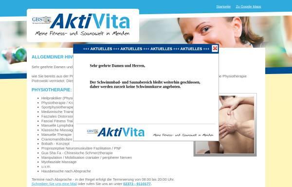 Vorschau von www.aktivita-menden.de, GBS - Aktivita