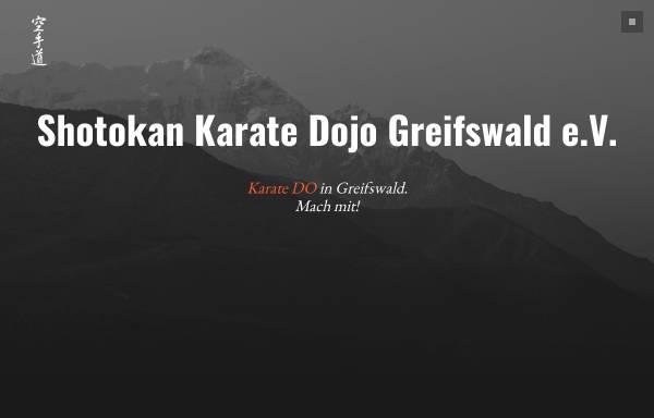 Vorschau von www.skd-greifswald.de, Shotokan Karate Dojo Greifswald e.V.