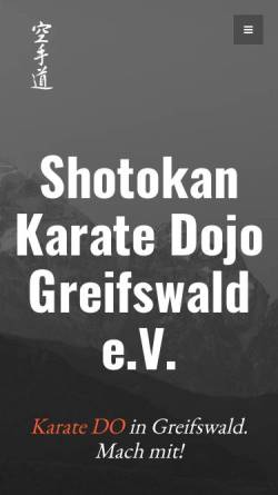 Vorschau der mobilen Webseite www.skd-greifswald.de, Shotokan Karate Dojo Greifswald e.V.