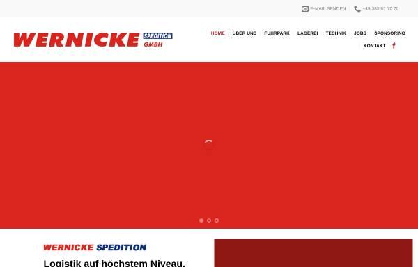 Vorschau von www.wernicke-spedition.de, Spedition Wernicke