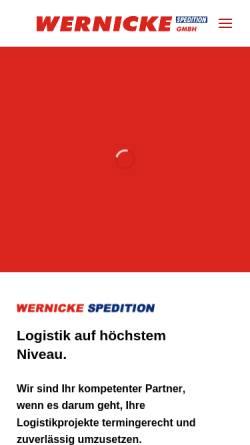 Vorschau der mobilen Webseite www.wernicke-spedition.de, Spedition Wernicke