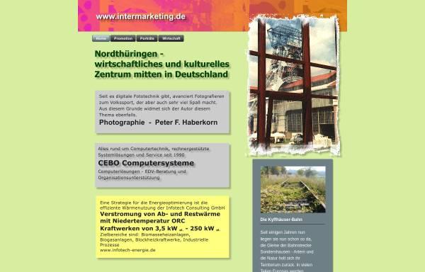 Vorschau von www.intermarketing.de, Internetmarketing im Kyffhäuserkreis und Umgebung