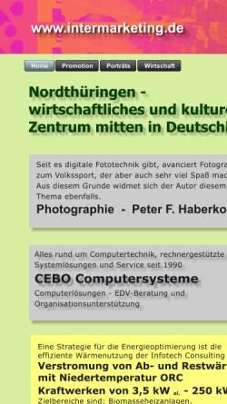Vorschau der mobilen Webseite www.intermarketing.de, Internetmarketing im Kyffhäuserkreis und Umgebung
