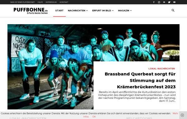 Vorschau von www.puffbohne.de, Puffbohne