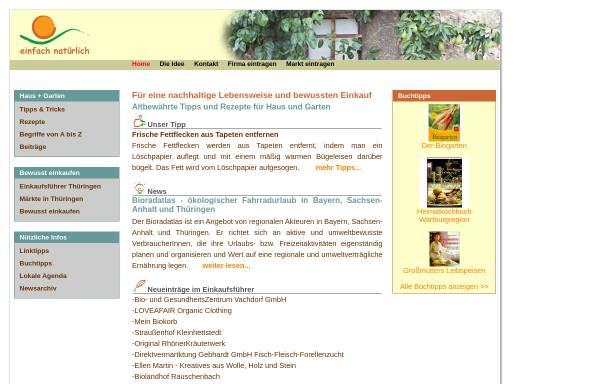 Vorschau von www.einfach-natuerlich.de, Einfach natürlich