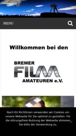 Vorschau der mobilen Webseite www.bremerfilmamateure.de, Bremer Film-Amateure e.V.