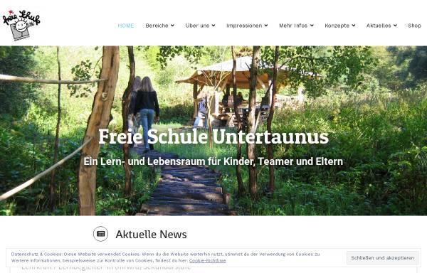Vorschau von www.freie-schule-untertaunus.de, Freie Schule Untertaunus