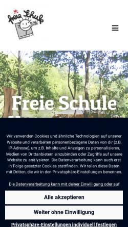 Vorschau der mobilen Webseite www.freie-schule-untertaunus.de, Freie Schule Untertaunus