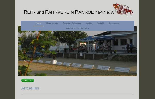 Vorschau von www.ruf-panrod.de, Reit- und Fahrverein Panrod e.V.