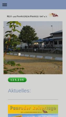 Vorschau der mobilen Webseite www.ruf-panrod.de, Reit- und Fahrverein Panrod e.V.