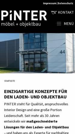 Vorschau der mobilen Webseite www.pinter-landhausmoebel.de, Pinter Landhausmöbel