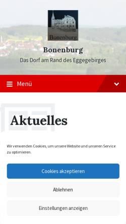 Vorschau der mobilen Webseite www.bonenburg.de, Bonenburg
