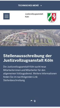 Vorschau der mobilen Webseite www.jva-koeln.nrw.de, Ossendorf