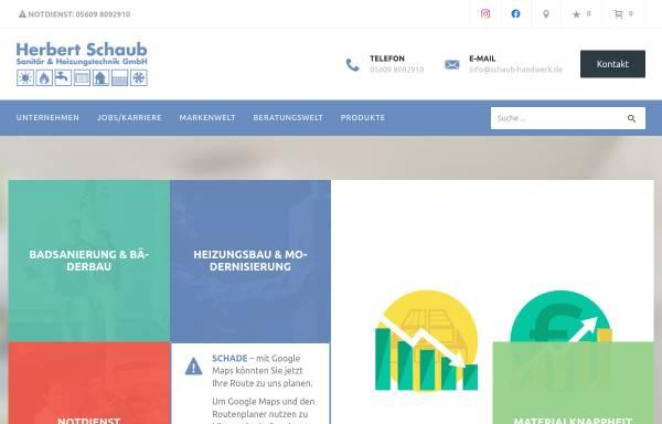 Vorschau von www.schaub-handwerk.de, Herbert Schaub Sanitär & Heizungstechnik GmbH