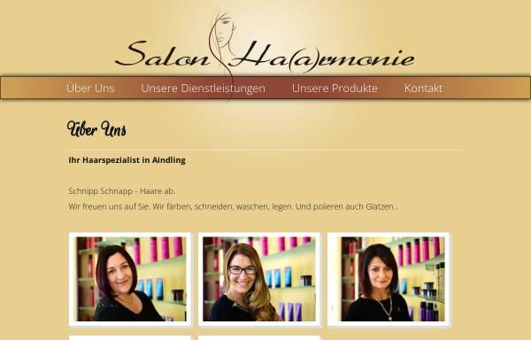 Vorschau von www.haarmonie-aindling.de, Salon Haarmonie Sandra Sauter