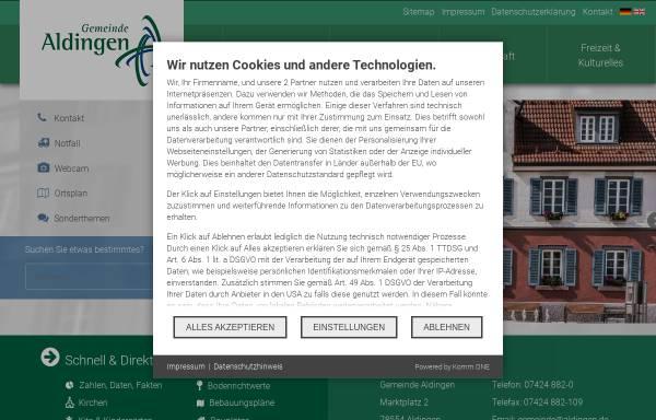Vorschau von www.aldingen.de, Gemeinde Aldingen