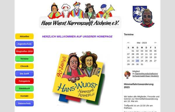 Vorschau von www.narrenzunft-aixheim.de, Hans Wuost Narrenzunft Aixheim e.V.