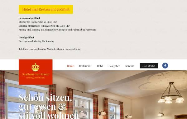Vorschau von www.krone-weingarten.de, Hotel Gasthaus Zur Krone