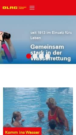 Vorschau der mobilen Webseite altbach.dlrg.de, DLRG Ortsgruppe Altbach