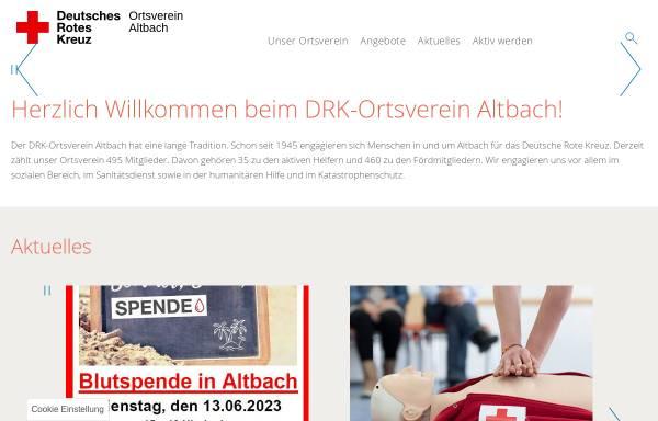 Vorschau von www.drk-altbach.de, DRK-Ortsverein Altbach