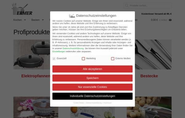 Vorschau von ermer-haushalt.de, Gregor Ermer Haushaltsausstattung