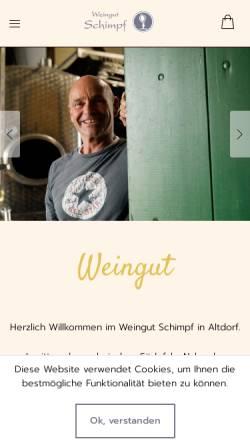 Vorschau der mobilen Webseite www.weingut-schimpf.de, Weingut Schimpf