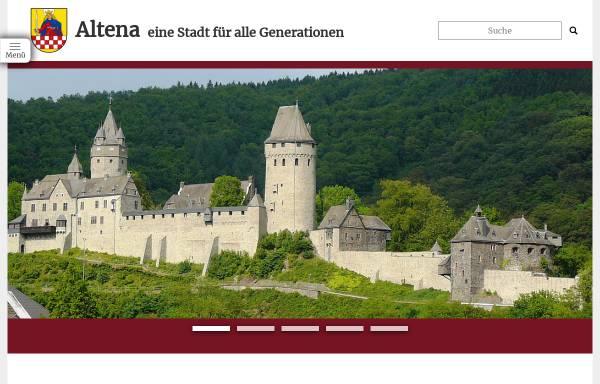 Vorschau von www.altena.de, Stadt Altena