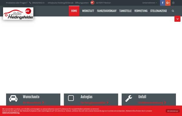 Vorschau von www.auto-heidingsfelder.de, Auto Heidingsfelder