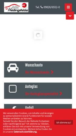 Vorschau der mobilen Webseite www.auto-heidingsfelder.de, Auto Heidingsfelder