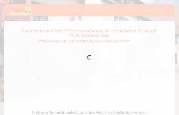 Vorschau von ferienhaus-teubner.de, Ferienwohnungen Teubner