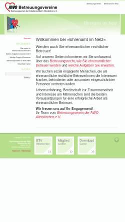 Vorschau der mobilen Webseite ehrenamt-im-netz.de, Betreuungsverein der AWO Altenkirchen e.V.