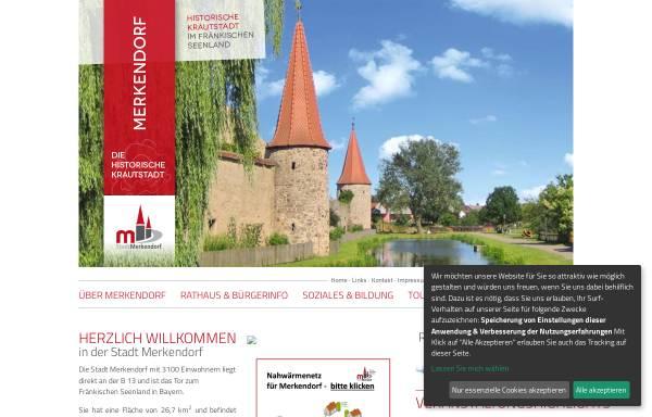 Vorschau von www.merkendorf.de, Stadt Merkendorf