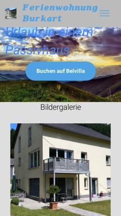 Vorschau der mobilen Webseite www.bbm-home.de, Ferienwohnung Annette und Berthold Burkart